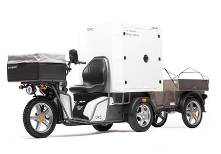 kyburz dxc cargo box carrello